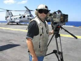 flight deck 300x225 On board the U.S.S. Nassau   Go To Team covers U.S. troops returning home from Iraq