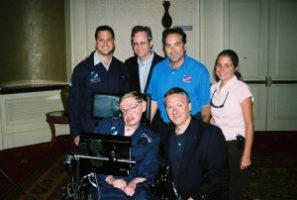 tom costello and hawking 1 300x202 Go To Team Flies with Stephen Hawking in Zero G