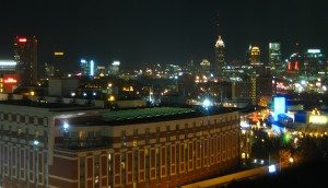 ATL Skyline Night 300x172 Go To Team Dishes Up Thanksgiving Dinner with the Atlanta Hawks