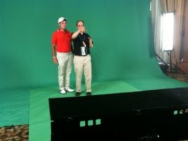 d1 300x225 The Greatest Golfers in the World take shots on the Green Screen for ESPN Promos.