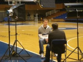 DSC04571 300x225 Richmond Crew Interviews Duke Basketball National Champion for ESPN