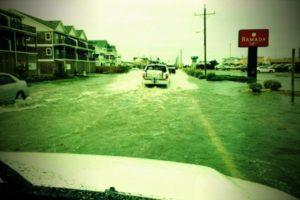 fx street flood 600x400 Charleston Crew and Weather Channel tackle Hurricane Earl