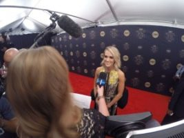 Carrie Underwood 300x225 Nashville Cameraman at the CMT Artists of the Year Red Carpet with E!