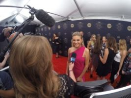 Kelsea Ballerini 300x225 Nashville Cameraman at the CMT Artists of the Year Red Carpet with E!