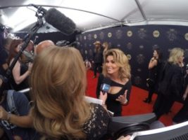 Shania Twain 300x225 Nashville Cameraman at the CMT Artists of the Year Red Carpet with E!