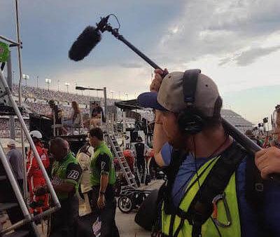 Cameraman at Daytona with NBC Sports